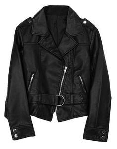 napoleonic styled kids leather jacket