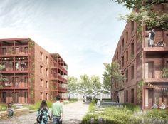 1. Preis Zur Realisierung empfohlen Baufeld I: gruppeomp Architekten, © NH…