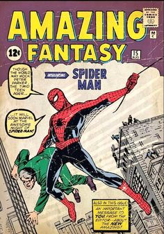Poster Marvel, Marvel Comics, Stan Lee, Jack Kirby, Most Expensive Comics, Spiderman Comic Books, Amazing Fantasy 15, Tales Of Suspense, Book Wall
