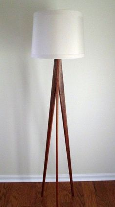 Floor Lamp Tripod Black Walnut by WaldenWoodDesigns on Etsy $180 + $45 shipping (doesn't inc shade)