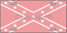 Pink Camo Rebel License Plate