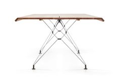 IMO Fiord Table with Oak Top & Polished Stainless Steel Legs Lunch Table, Acoustic Panels, Commercial Interiors, Joinery, Tiles, Indoor, Furniture, Design, Seattle