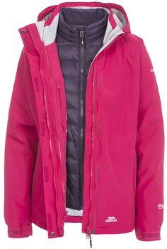 Trailwind Women's 3 in 1 Jacket with Inner Down Jacket - Trespass Ireland 3 In 1 Jacket, Rain Jacket, Stay Warm, Windbreaker, Jackets For Women, The Incredibles, Coat, Ireland, Style