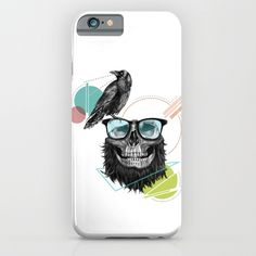 """HipSkull"" Phone Case by Ergün Uzun on Society6."