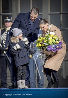 Scandinavian Royals. (@crownprincely) on Twitter:  Victoria's Name Day, March 12, 2017-The Crown Princess Family celebrated name day in Sweden-Princess Estelle, Prince Daniel and Crown Princess Victoria
