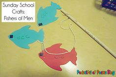 Here is a fun fishing game/craft to help kids remember the story of Jesus' disciples being fishers of men from the Jesus Storybook Bible.