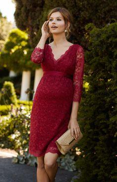 Chloe Lace Maternity Dress Scarlet by Tiffany Rose