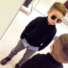 Awesome outfit & awesome haircut little boy