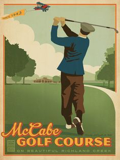 Metro Parks: McCabe Golf Course - Metro Parks has commissioned a 12-print series to celebrate a dozen of the most popular Metro Parks in the Nashville area. McCabe Golf Course is the first in this new series. Located in West Nashville in the Sylvan Park area, McCabe Golf Course                    is a 27-hole golf course. Eighteen holes were built in 1942                    and have large, tree lined fairways and sand bunkers. An                    additional nine holes were added several…