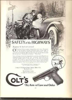 Brilliant 1914 Colt .32 Police Positive Revolver Gun Photo Art Vintage Print Ad Advertising-print