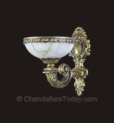 Alabaster Wall Sconce #073-W 1-Light