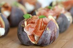 figs with ham and goat cheese - looks good!