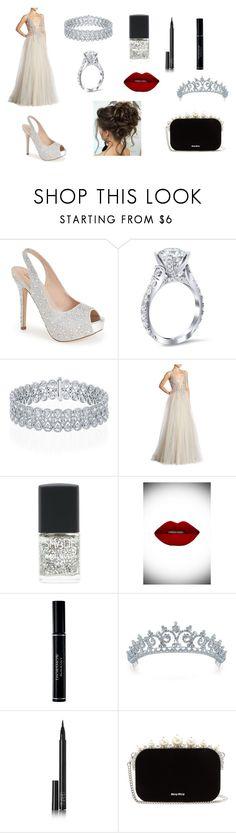 """Engagement Night"" by aakankshagarg on Polyvore featuring Lauren Lorraine, Berta, Lane Bryant, Suavecita, Christian Dior, Bling Jewelry, NARS Cosmetics and Miu Miu"