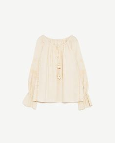 Image 8 of EMBROIDERED TOP WITH CORDS from Zara