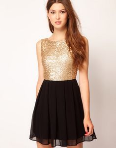 Buy TFNC Babydoll Dress With Sequin Bodice at ASOS. Get the latest trends with ASOS now. Babydoll Dress, Dress Up, Nye Dress, Sequin Dress, Look Disco, Moda Barbie, Evening Dresses, Formal Dresses, Costume