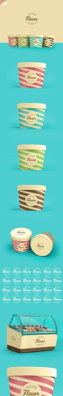 fun packaging design   color scheme   simple   branding   appealing  //  Flavor Ice Cream #Packaging by Renan Vizzotto, via Behance PD                                                                                                                                                     Más