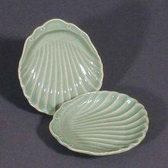 celadon side-dish plates
