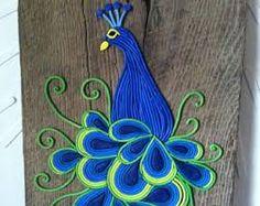 Peacock - Polymer Clay Wall Art