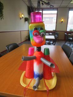 Kleurrijke plastic Alien