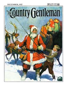Stay Santa, Stay!, Country Gentleman Cover, December 1, 1927 by Frank Schoonover