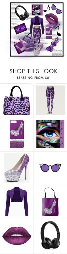 """""""Wear Purple And Be Ready For Anything"""" by personaleffects ❤ liked on Polyvore featuring Music Notes, WearAll, Lime Crime, Beats by Dr. Dre, fashionset, polyvorestyle and polyvorefashion"""