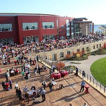Epic Systems Corporation (Wisconsin) photo of: Customers gathering at Epic's…