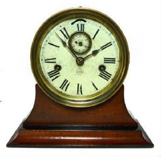 Rarest Seth Thomas Antique Ships Clock Dated 1878 Double Wind Movement 6 inch dial, Brass Case Runs strong CLOCKS / BAROMETERS⌛️⏱⏰⏲⏰More At FOSTERGINGER @ Pinterest⏰⏲⏱⏳