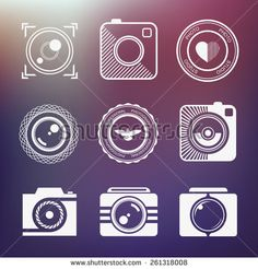 Vector minimalistic collection of photography logo templates. Photography vintage and modern badges and photo labels. Photocam logotypes. - stock vector
