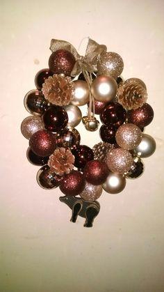 Rustic bear coat hanger ornament wreath