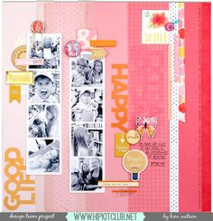 Trendy way to add 8 photos to your layout!