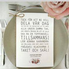 #ShareIG Superfina bröllopsprogram hittade hos @festhosagnes #bröllop…