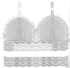 Bildergebnis für tops a crochet patrones Motif Bikini Crochet, Tops A Crochet, Bikinis Crochet, Crochet Bra, Mode Crochet, Crochet Crop Top, Crochet Diagram, Crochet Woman, Crochet Blouse
