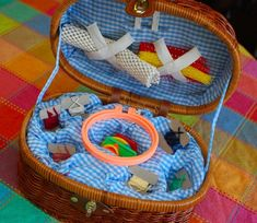 First Sewing Basket -- great for fine motor skill development!