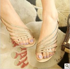 2013 female shoes cutout rhinestone with sandals $33.00