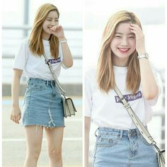Twice-Dahyun 170623 @ Incheon Airport off to New York for 'KCON 2017 NY'