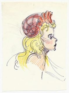Concept art from the 1989 Disney film, 'The Little Mermaid'