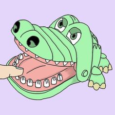 Crocodile Dentist Illustration Art By Leftsock