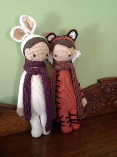 BUNNY and TIGER mod made by erynotyuki / based on a lalylala crochet pattern