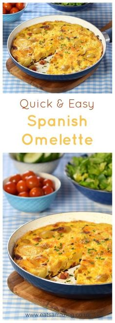 How to make a Spanish Omelette - a great family meal idea - super easy recipe from Eats Amazing UK meals for family Seriously Easy Spanish Omelette Recipe Brunch Recipes, Easy Dinner Recipes, Breakfast Recipes, Breakfast Ideas, Quick Recipes, Healthy Family Dinners, Quick Meals, Healthy Meals, Dinner Healthy