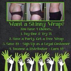 =-) As close to magic as it gets (-=  Interested in trying a wrap for FREE? Here's How:  Host a Wrap Party & Invite 5 Friends! 5 wrapping friends + $25 each = 1 FREE WRAP for the Hostess  (Portland, Oregon)  www.wrapwithaaryn.com
