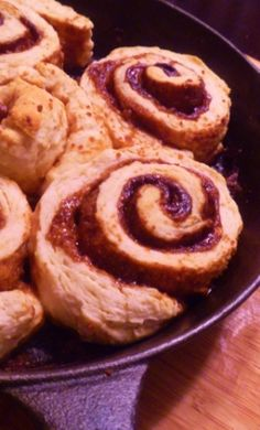 Cast Iron Skillet Quick Cinnamon Rolls - Nourishing Recipes - Gratefully Nourished
