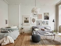Scandinavian Interior Design Unique and Beautiful Scandinavian Interior Design Scandinavian Interior Design. Reflections of the timeless beauty of Scandinavian interior design are back in the home … Tiny Studio Apartments, Studio Apartment Design, Studio Apartment Decorating, Apartment Layout, Apartment Ideas, Studio Design, Studio Layout, Apartment Checklist, Modern Apartments
