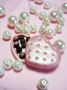 Chocolates box miniature necklace