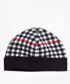 07c40052847 Brooks Brothers Girls Wool Blend Windowpane Hat Brooks Brothers
