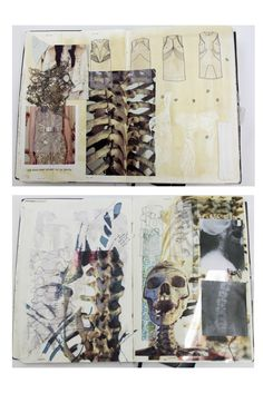 Fashion Sketchbook - skeletal forms, patterns & textures - fashion design & development // Natasha Elliott Source by ahernganna sketchbook Sketchbook Layout, Textiles Sketchbook, Gcse Art Sketchbook, Fashion Design Sketchbook, Sketchbook Inspiration, Sketchbook Ideas, A Level Textiles, A Level Art, Art Portfolio