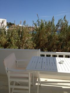 The View from the New Generation Sea View Rooms at Seaside Cottage by Belvedere at Psarou Beach, Mykonos