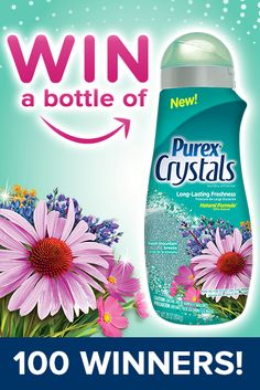 *THIS SWEEPSTAKES HAS ENDED* Enter to win a bottle of NEW Purex Crystals Fresh Mountain Breeze! #laundry