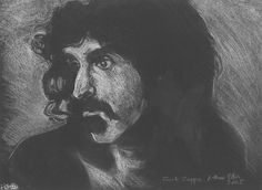 Frank Zappa  - Pre-sightloss artwork by Arthur Ellis
