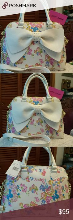Betsy Johnson NWT Dome Floral Xbody /Tote Bag Betsy Johnson NWT Floral Dome Crossbody and Tote Bag, Zip Closure, 2 Slip pockets inside and Zippered pocket inside Betsy Johnson Bags Totes