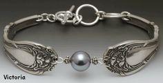 silverware pearl bracelet